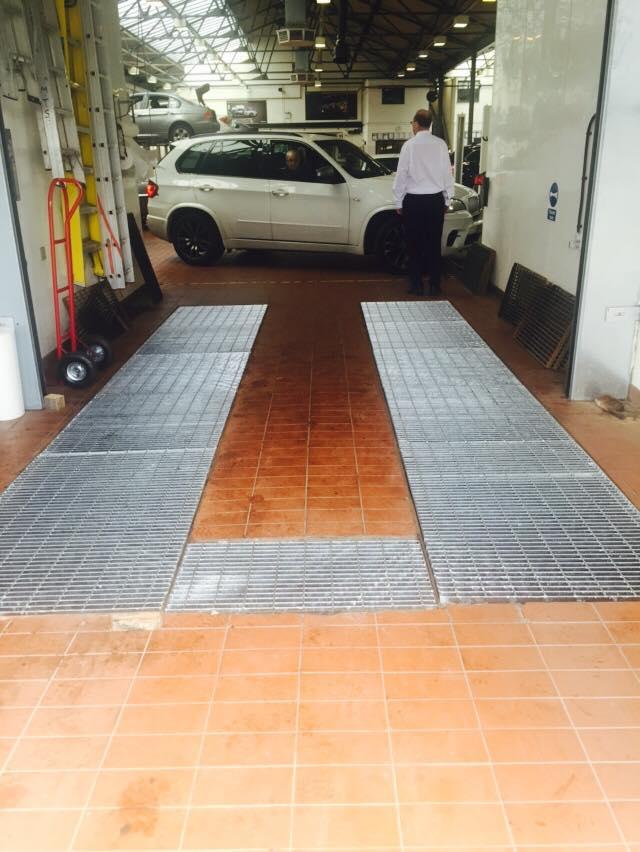 BMW Workshop floor grills