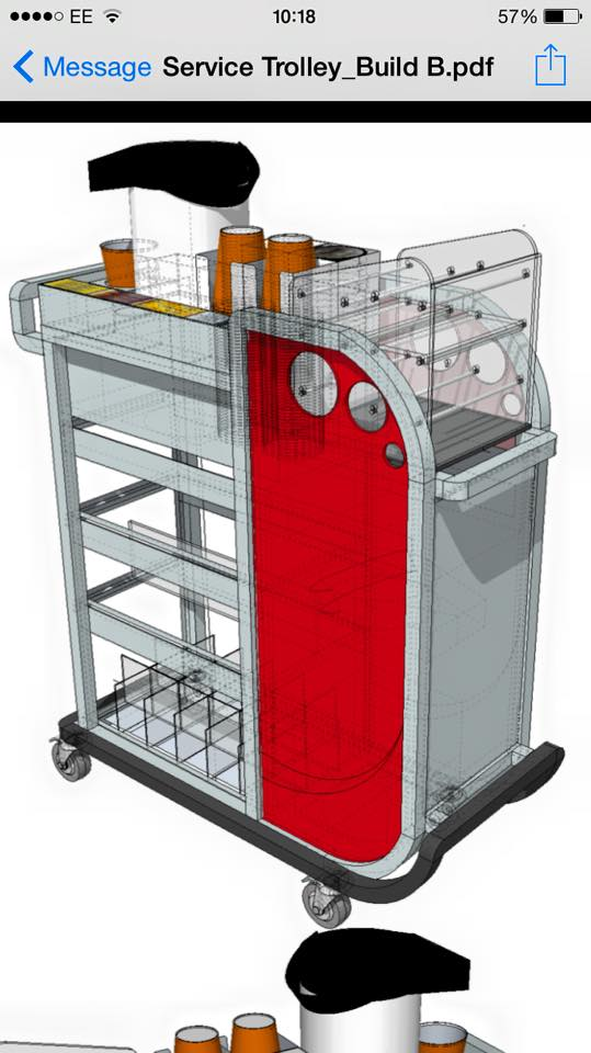 coffee trolley virgin trains concept design